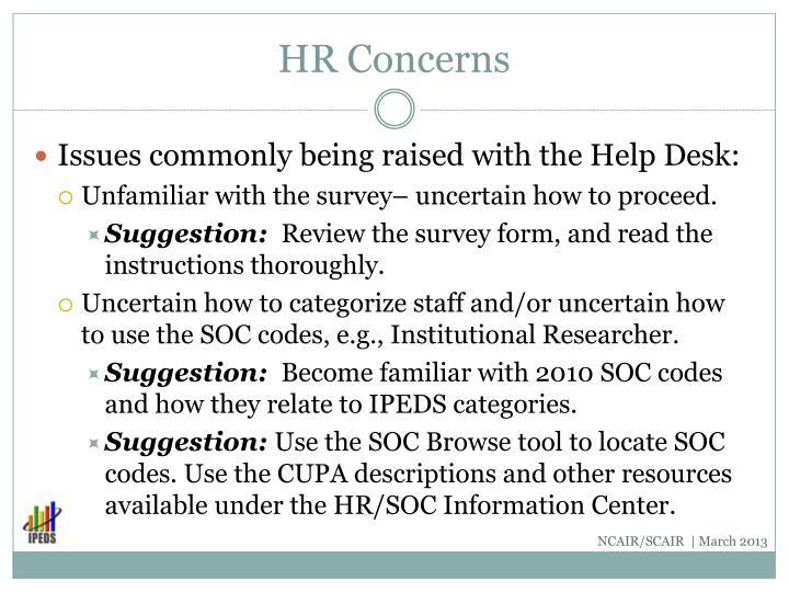 HR Concerns