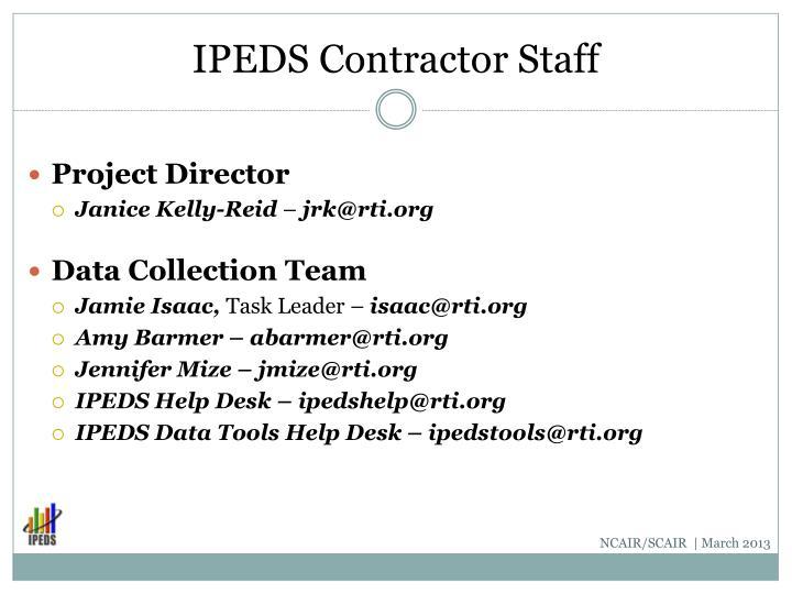 IPEDS Contractor Staff