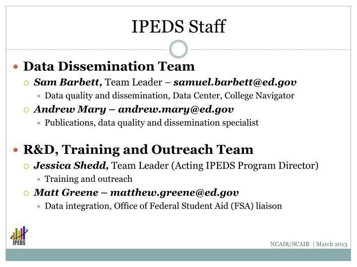 IPEDS Staff