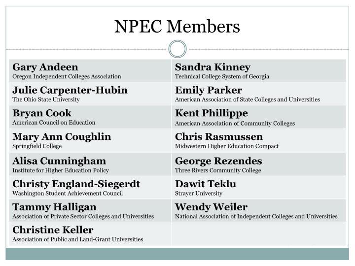 NPEC Members