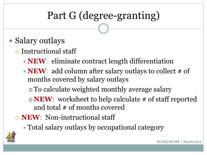 Part G (degree-granting)