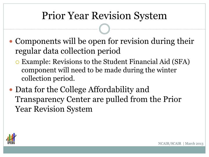 Prior Year Revision System