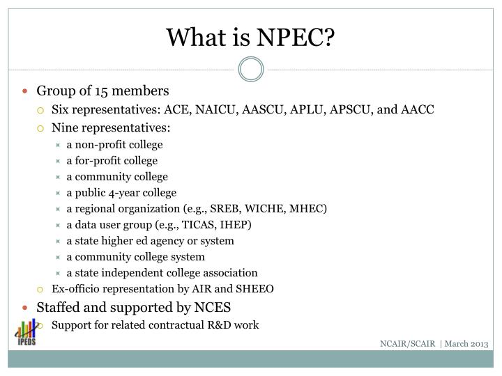 What is NPEC?