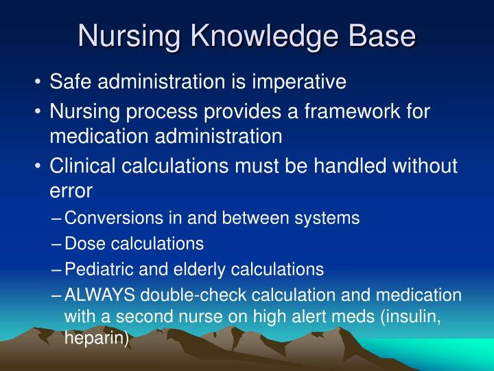 Nursing Knowledge Base