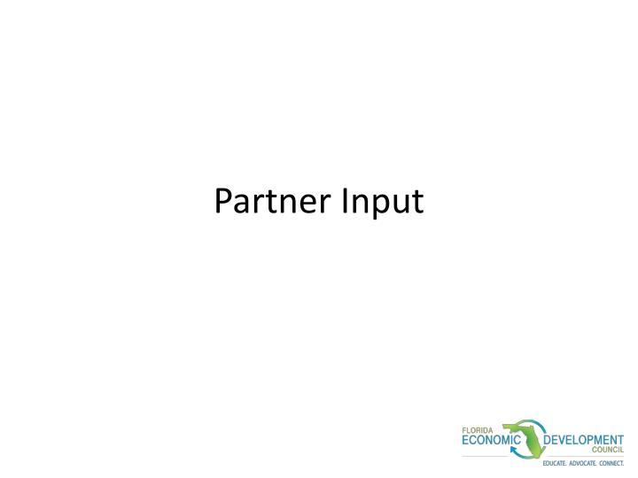 Partner Input