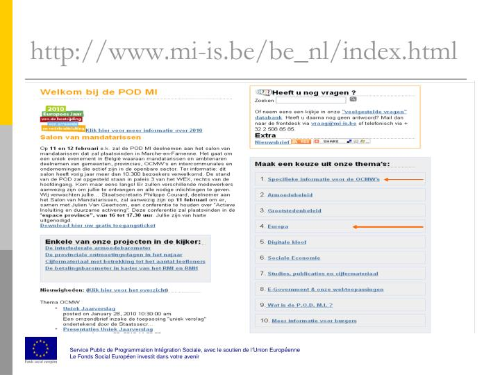 Http www mi is be be nl index html