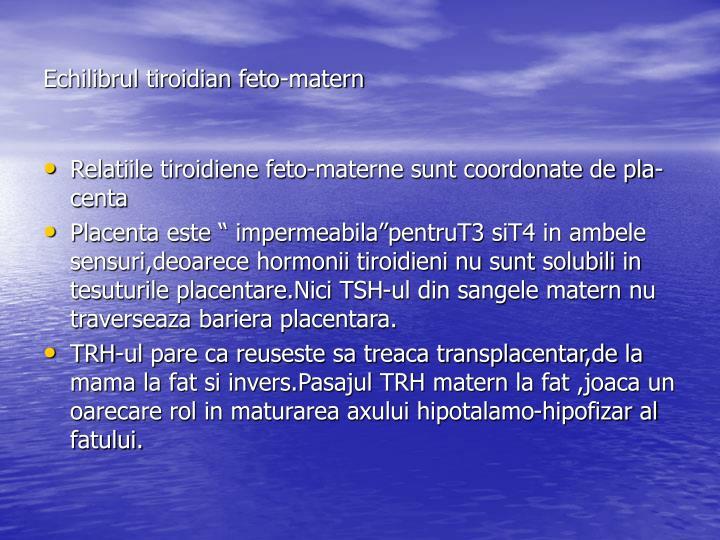Echilibrul tiroidian feto-matern