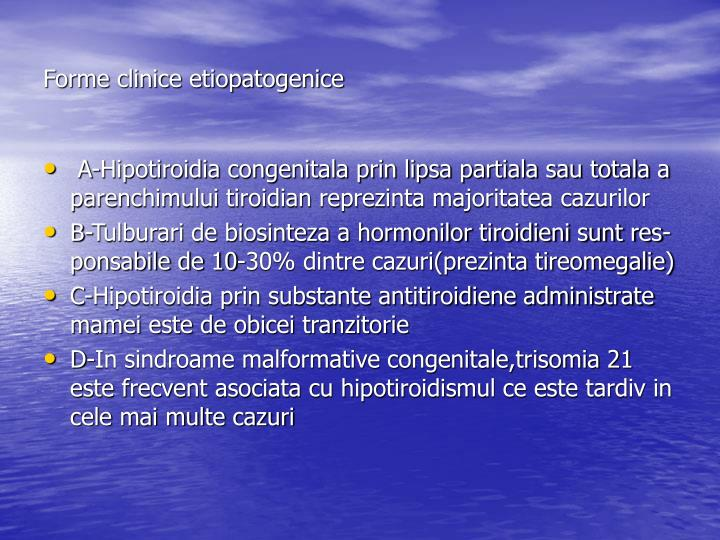 Forme clinice etiopatogenice