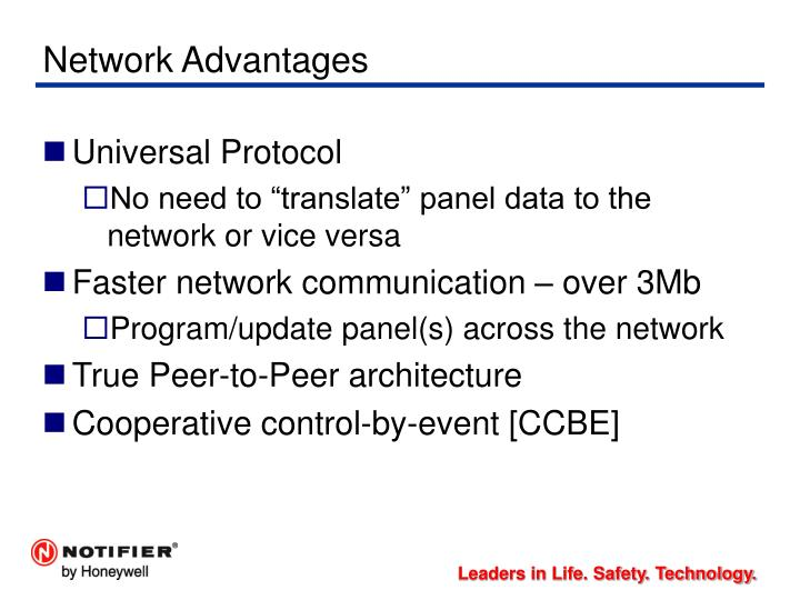 Network Advantages