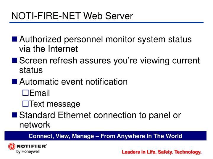 NOTI-FIRE-NET Web Server