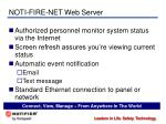noti fire net web server