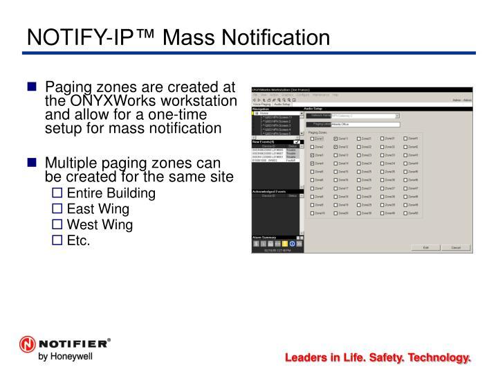 NOTIFY-IP™ Mass Notification