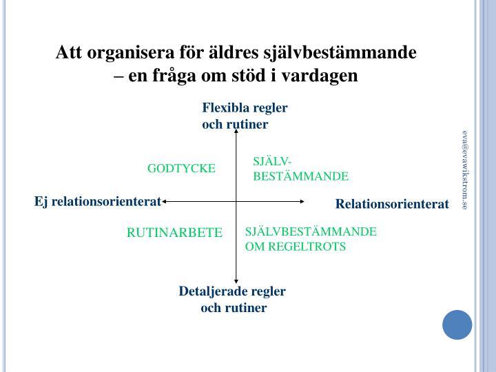 Att organisera för
