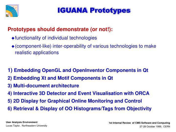 IGUANA Prototypes