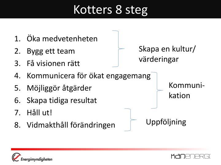 Kotters 8 steg