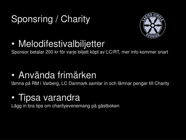 Sponsring / Charity