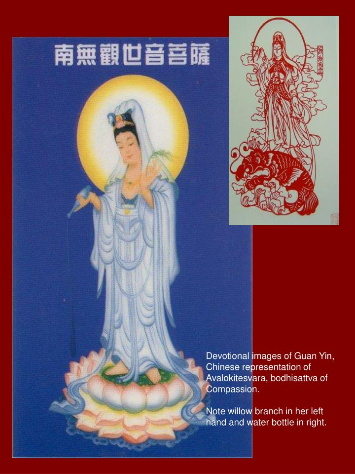 Devotional images of Guan Yin,