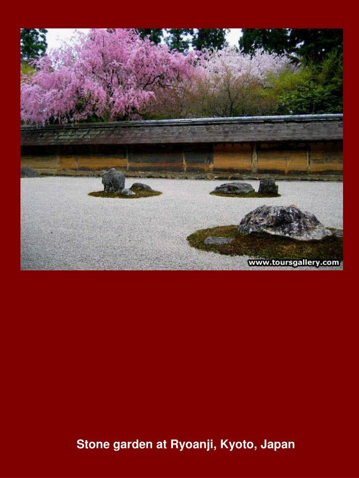 Stone garden at Ryoanji, Kyoto, Japan