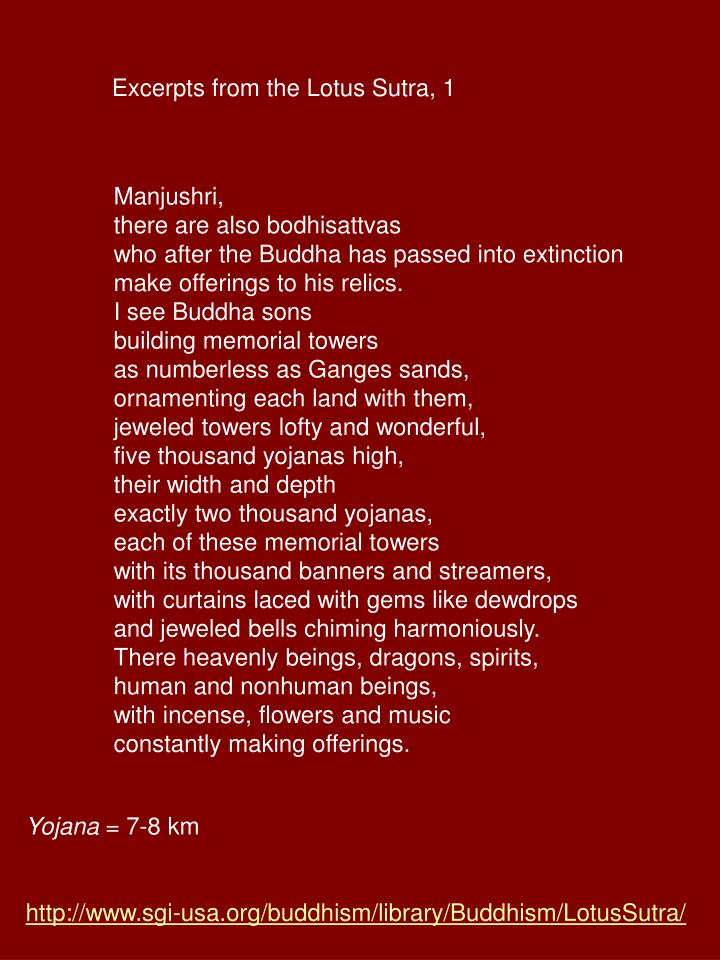 Excerpts from the Lotus Sutra, 1