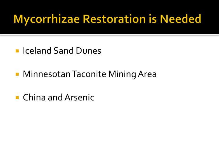 Mycorrhizae Restoration is Needed