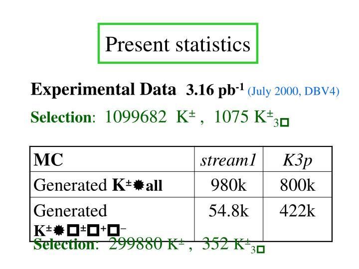 Present statistics