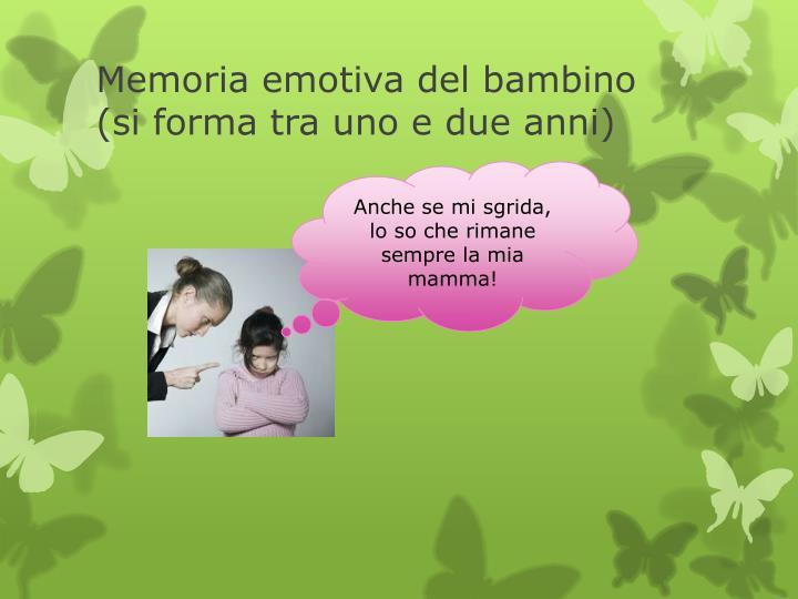 Memoria emotiva del bambino