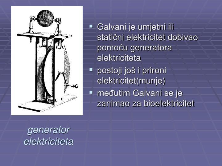 generator elektriciteta