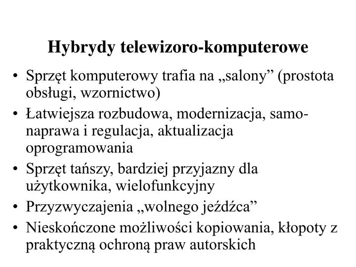 Hybrydy telewizoro-komputerowe