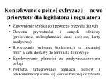 konsekwencje pe nej cyfryzacji nowe priorytety dla legislatora i regulatora