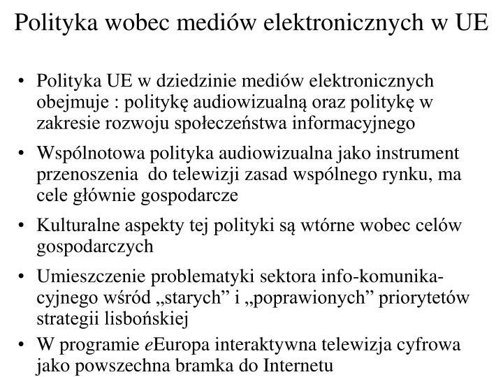 Polityka wobec mediów elektronicznych w UE
