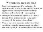 wytyczne dla regulacji cd