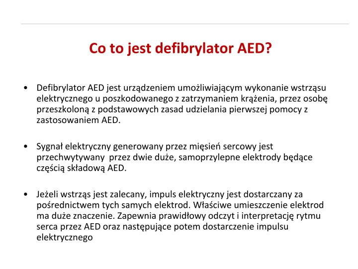 Co to jest defibrylator AED?