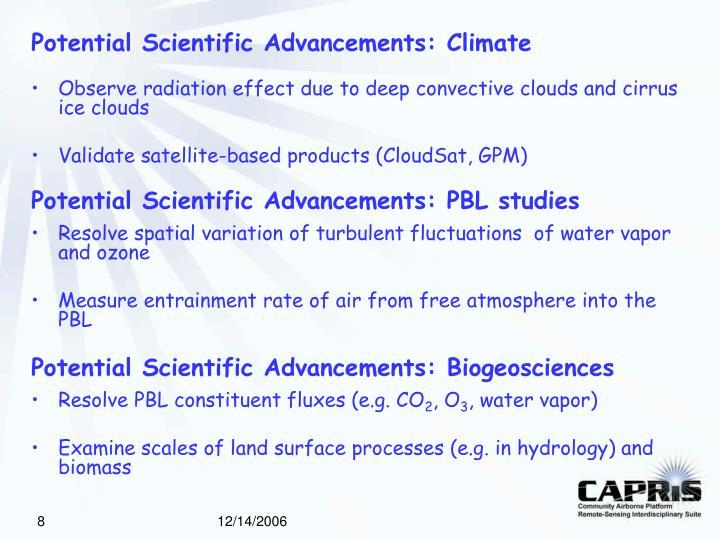 Potential Scientific Advancements: Climate