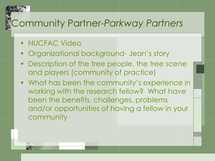 Community partner parkway partners