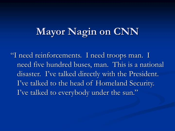 Mayor Nagin on CNN