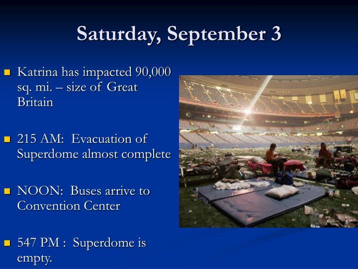 Saturday, September 3