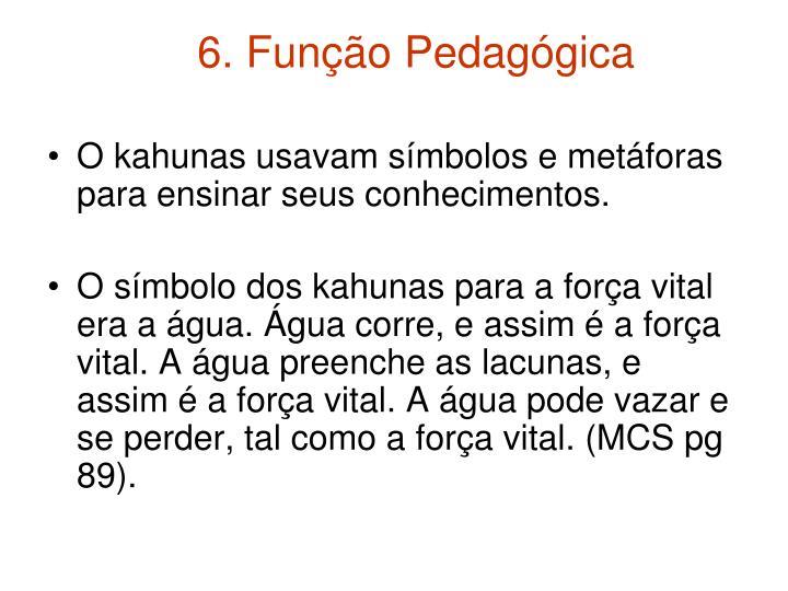 6. Função Pedagógica