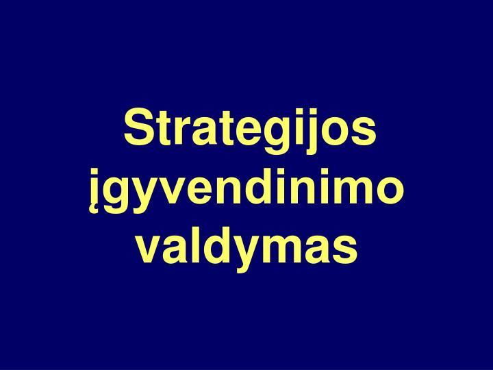 Strategijos įgyvendinimo valdymas
