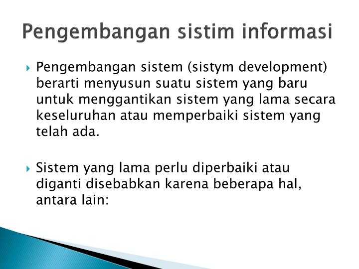 Pengembangan sistim informasi