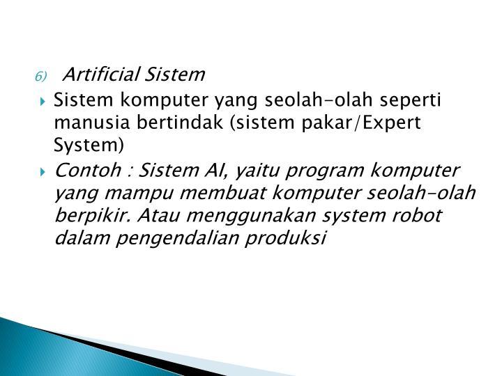 Artificial Sistem