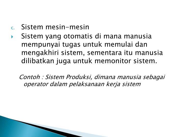 Sistem mesin-mesin