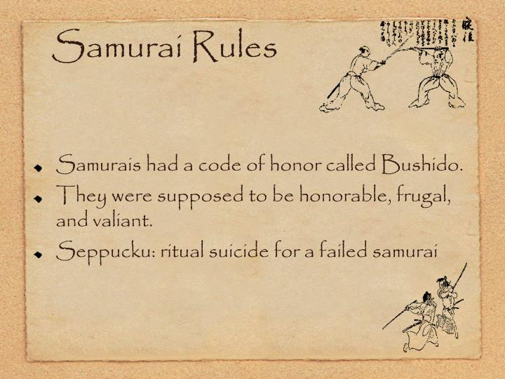 Samurai Rules