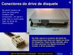 conectores do drive de disquete