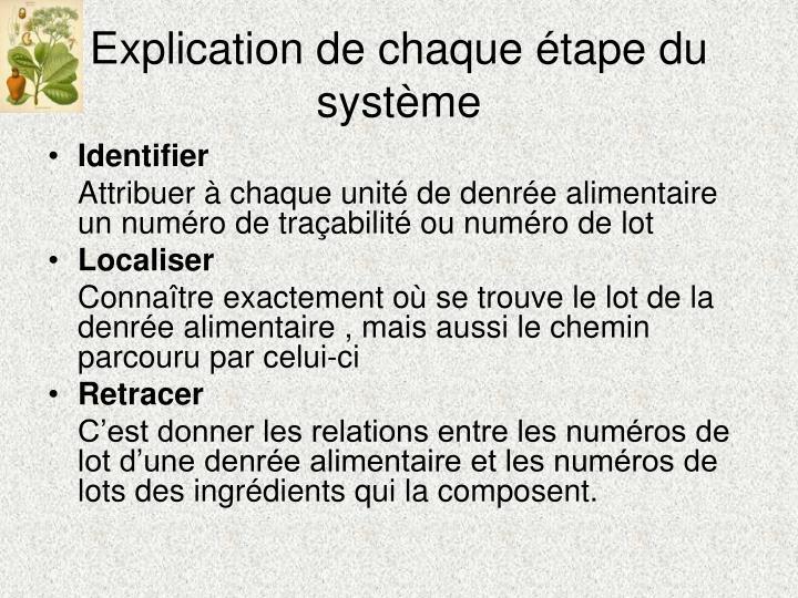 Explication de chaque étape du système