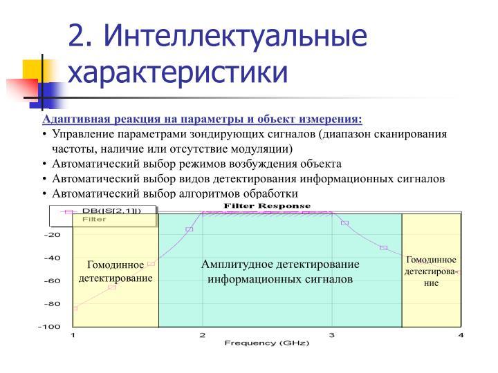 2. Интеллектуальные характеристики