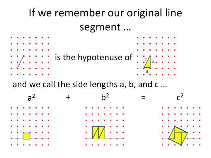 If we remember our original line segment …