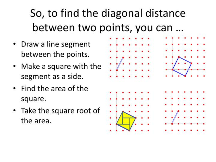 So, to find the diagonal