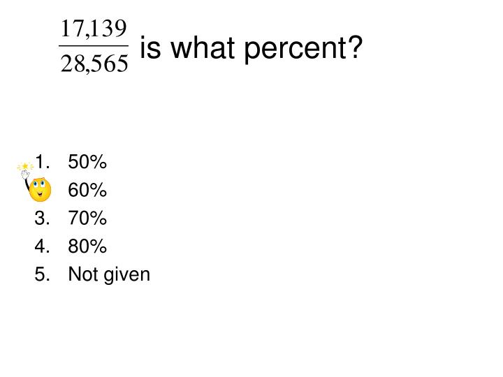 is what percent?