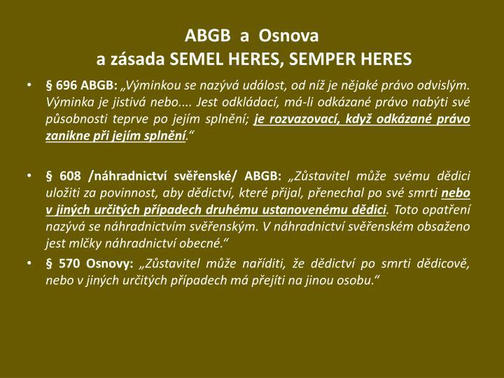 ABGB  a  Osnova