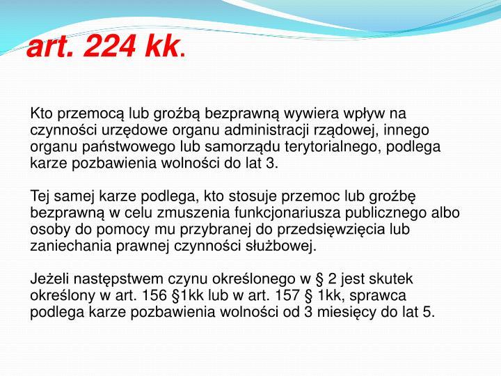 art. 224 kk